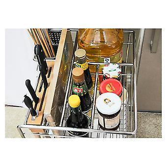 Shane steel kitchen basket gabinete cuchillo rack tirar de aromatizante estante al por mayor