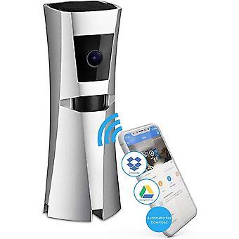Sens8 kabellose berwachungsKamera Innen mit WLAN und Sirene als Alarm – Zimmerkamera speichert