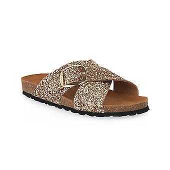 Frau gold glitter shoes