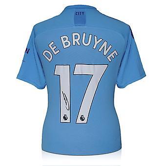 ケビン・デ・ブライネがマンチェスター・シティ2019-20シャツにサイン