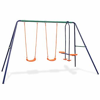 Swing Set con 4 posti arancione