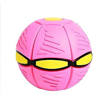 Deformation Ball Flying Saucer Shape Glowing Toy