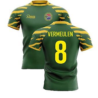 2020-2021 جنوب أفريقيا سبرينغبوس الصفحة الرئيسية مفهوم قميص الرجبي (Vermeulen 8)