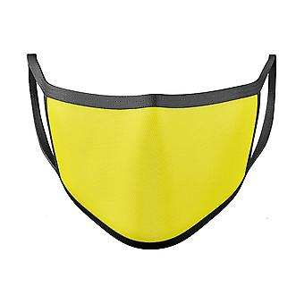 Solid Yellow - Made In Usa Mouth Cover Unisex Anti-dust Cotton Blend