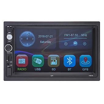 PNI V8270 2 DIN multimedia navigatie met GPS MP5, 7 inch touchscreen, FM radio, Bluetooth, Mirror Link, AUX, USB, microSD