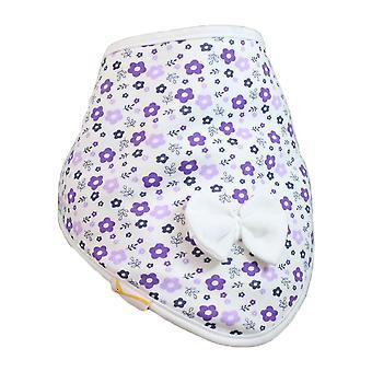 White purple & lilac flowers cutie collar bandana bib