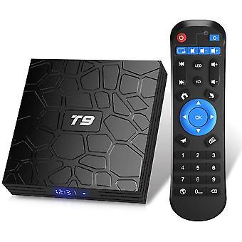 T9 Android 9.0 TV Box 2GB RAM / 16GB ROM Unterstützung 2,4 / 5,0 GHz WiFi BT4.0 RK3318 Quad-Core 4K 3D HD DLNA Smart TV Box (Schwarz)