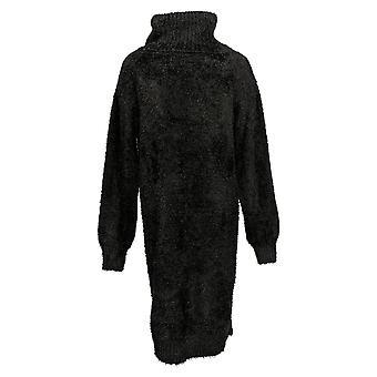 All Worthy Hunter McGrady Dress Sweater Midi Black A388943
