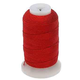 و Beadsmith 100٪ الحرير الديكور الموضوع، حجم F، 140 ياردة، 1 بكرة، الأحمر