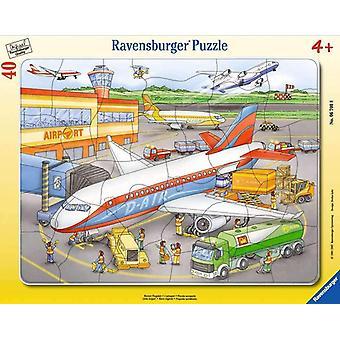FengChun Kinderpuzzle 06700 - Kleiner Flugplatz - Rahmenpuzzle