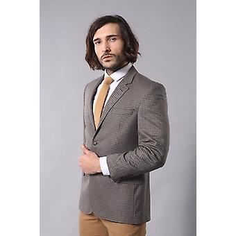 4 Drop patterned brown cache blazer | wessi