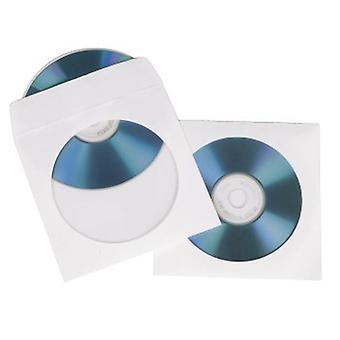 Hama CD/DVD Paper Sleeves, pack of 50, White