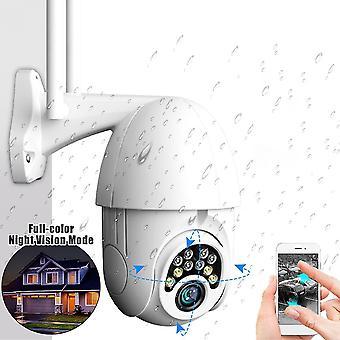 GUUDGO 10LED 5X Zoom HD 2MP CÂMERA DE SEGURANÇA IP WiFi Wireless 1080P Outdoor PTZ Noite Impermeável Night Visi