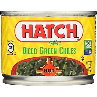Hatch Green Chili Dice Hot, Case of 24 X 4 Oz
