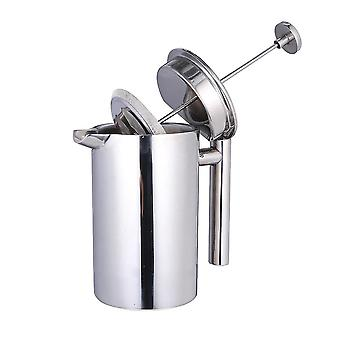 800ml Double Layer Stainless Steel Coffee And Tea Maker French Press Heat Preservation Mug