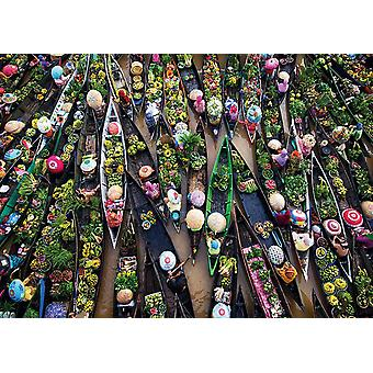 Gibsons Floating Market Jigsaw Puzzle (500 Pieces)