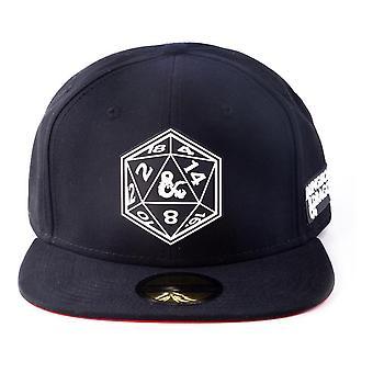 Hasbro - Fangehull & Dragons Terning patch Snapback Baseball Cap (Svart)