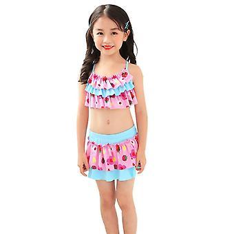 Girl's swimsuit split bikini skirt for children