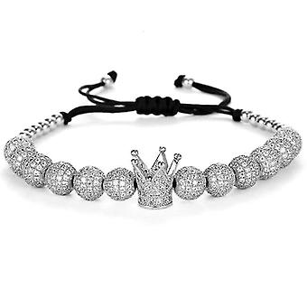 Bracelet-Crown and silver beads