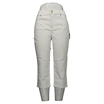 NYDJ Petite Jeans pour femmes 10 Skinny Crop Side Slits Optic White A377695