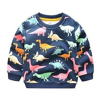 Winter Warm Long Sleeve Cartoon Animal Print Sweatshirt