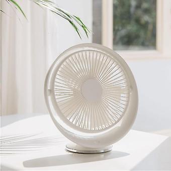 Ventilador de escritorio Circulación de aire recargable eléctrico Viento natural USB Ángulo recargable ajustable