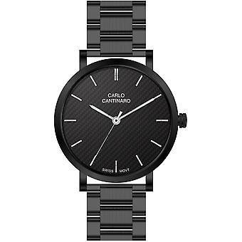 Carlo Cantinaro Black Stainless Steel CC1001GB003 Men's Watch
