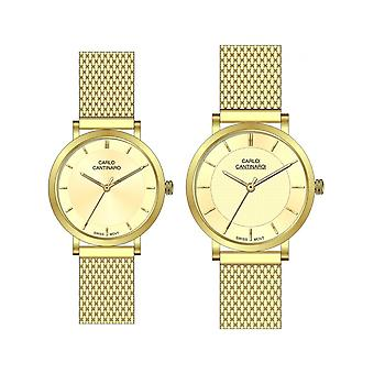 Carlo Cantinaro Gold Stainless Steel CC3001SM004 Women's Watch