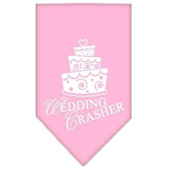 Dog apparel 66-89 smlpk wedding crasher screen print bandana light pink small