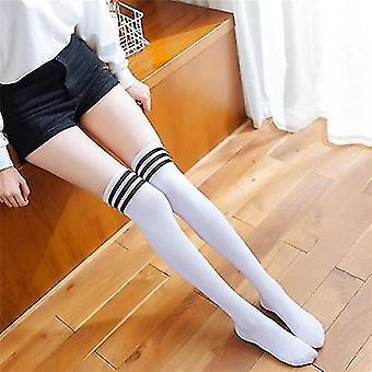 Long Stockings Warm Thigh Striped Knee Socks New