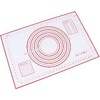 Silikon Backmatte Antihaftpastenmatte (60 x 40 cm rot)