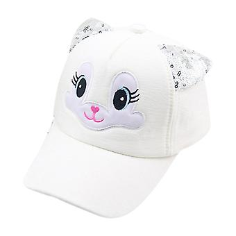 Kids Girl Cartoon Cat Sequins Ear Baseball Cap Toddler Snapback Hat