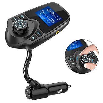 משדר Bluetooth Fm, ערכת ללא ידיים של מתאם רדיו לרכב, T10
