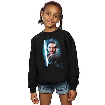 Star Wars tytöt viimeisen Jedi Rey harjattu pusero