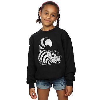 Disney Mädchen Alice im Wunderland Mono Grinsekatze Sweatshirt