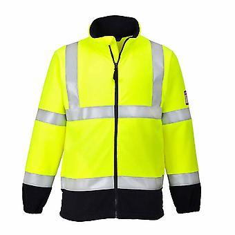 Portwest - Φλόγα αντισταθείτε ασφάλεια Workwear αντι-στατική Hi-Vis fleece σακάκι