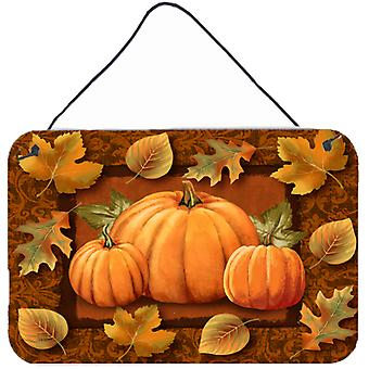 Pumpkins and Fall Leaves Wall or Door Hanging Prints