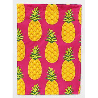 Carolines skatter BB5136GF ananas på rosa flagg hage størrelse
