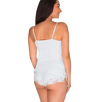 Sans Complexe 53564 Frauen Arum weißer Spitze Top Unterhemd