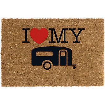 Reimo I Love My Caravan Coconut Doormat