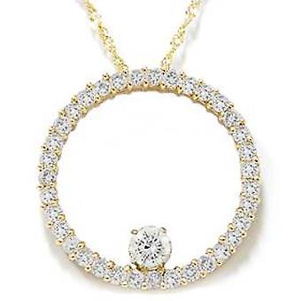 1 1 / 2ct Circle Of Life Diamond riipus 14K keltakultaa