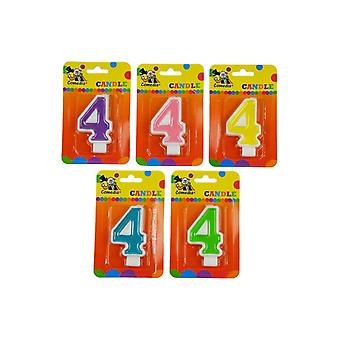 Party favors  Birthday candle with number 4