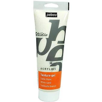 Pebeo Studio Acrylics Sand Texture Gel 250ml Tube (White)