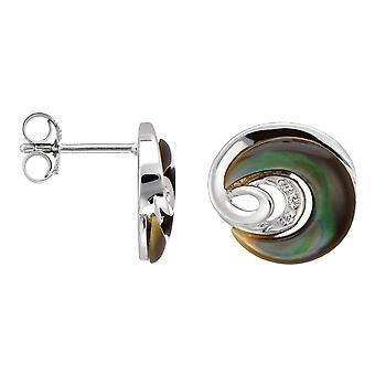 Orphelia Silver 925 Earring Black Mop Zirconium  ZO-5987