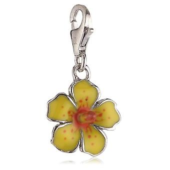 s.Oliver juvel damer vedhæng sølv hibiscus gul SOCHA/150-393409