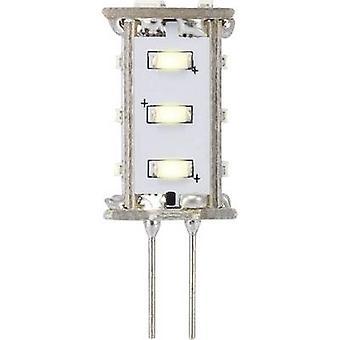 Sygonix LED (monochrome) EEC A (A++ - E) G4 Pen 0.8 W = 5 W Warm white (Ø x L) 13 mm x 33 mm 1 pc(s)