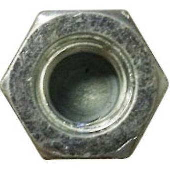 TOOLCRAFT M3 D917-STAHL:A2K 194782 Hex GLB noten M3 DIN 917 staal verzinkt verzinkt 10 PC('s)