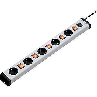 Ehmann 0235x01054301 Socket strip (+ switch) 5x Grey, Black PG connector 1 pc(s)