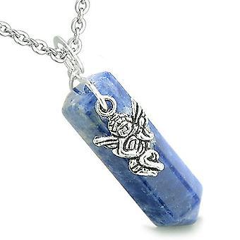 Amulet Archangel Gabriel Magic Crystal Point Sodalite Gem Spiritual Energy Pendant Necklace