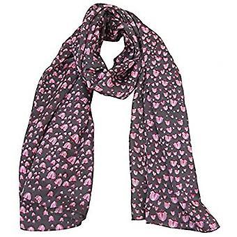 山谷丝绸设计师围巾的莉莉